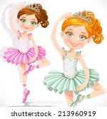 Cute Little Ballerina Girl In...
