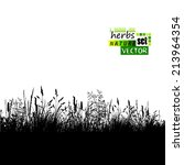 Grass Silhouette Background....