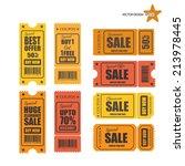 vector sale tickets. | Shutterstock .eps vector #213978445