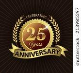 celebrating 25 years... | Shutterstock .eps vector #213985297