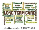 long term care word cloud on...   Shutterstock . vector #213995581