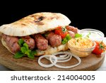 cevapcici  a small skinless... | Shutterstock . vector #214004005