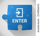 beautiful enter web icon | Shutterstock .eps vector #214006651