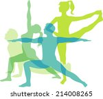 yoga positions | Shutterstock .eps vector #214008265