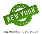 welcome to new york | Shutterstock . vector #214014364