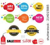 vector   set of  sale stickers. ... | Shutterstock .eps vector #214015885