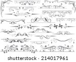 vector decorative design... | Shutterstock .eps vector #214017961