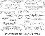 vector decorative design... | Shutterstock .eps vector #214017961
