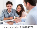 view of a young relaxed couple... | Shutterstock . vector #214023871