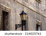 old wall lamp street lighting. | Shutterstock . vector #214025761