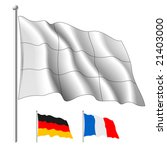 vector white flag. contents... | Shutterstock .eps vector #21403000