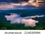 View Of Lake Jocassee At Sunse...