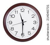 half past eleven on round the... | Shutterstock . vector #214040731