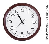 five minutes to eleven on round ...   Shutterstock . vector #214040737