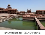 the palace of fatehpur sikri in ... | Shutterstock . vector #214044541