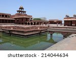 the palace of fatehpur sikri in ... | Shutterstock . vector #214044634