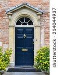 Front Door Of Beautiful Old...