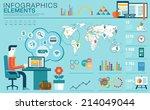 flat modern design vector... | Shutterstock .eps vector #214049044