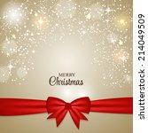 christmas glossy star... | Shutterstock .eps vector #214049509