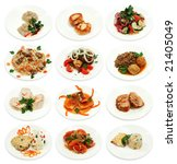 collection of different food... | Shutterstock . vector #21405049