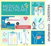 medical and health care vector... | Shutterstock .eps vector #214050964