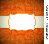 frame in the indian style on... | Shutterstock .eps vector #214065097