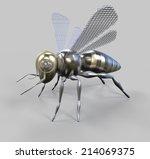 steampunk bee   Shutterstock . vector #214069375