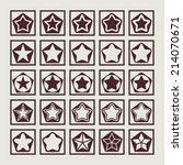 stars icon set | Shutterstock .eps vector #214070671