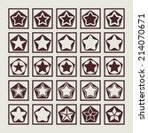 stars icon set | Shutterstock .eps vector #214070671