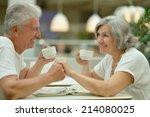 portrait of beautiful elderly... | Shutterstock . vector #214080025