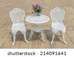 White Iron Table Set Vintage...