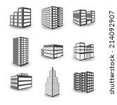 set of vector isometric... | Shutterstock .eps vector #214092907