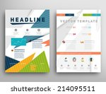 abstract triangle geometric... | Shutterstock .eps vector #214095511