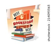 heap of books with best... | Shutterstock .eps vector #214095565
