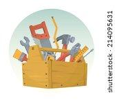 set of different tools. vector... | Shutterstock .eps vector #214095631