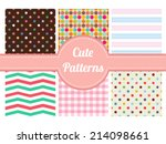 cute patterns | Shutterstock .eps vector #214098661