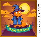 vector card with cartoon... | Shutterstock .eps vector #214102675