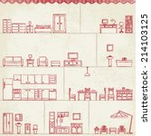 vintage stylized hand drawn... | Shutterstock .eps vector #214103125