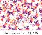 abstract watercolor flower... | Shutterstock . vector #214114645