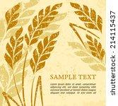 stylized background ears of... | Shutterstock .eps vector #214115437