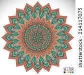 mandala. round ornament pattern....   Shutterstock .eps vector #214117075