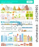 great set of map creator with... | Shutterstock .eps vector #214129801