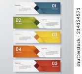 design clean number banners... | Shutterstock .eps vector #214134571