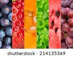 healthy food background.... | Shutterstock . vector #214135369