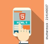 html 5 responsive web design on ... | Shutterstock .eps vector #214140037