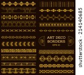 art deco vintage borders and... | Shutterstock .eps vector #214140685