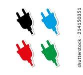 electric plug    icon vector   Shutterstock .eps vector #214150351