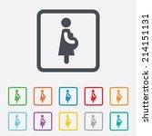 pregnant sign icon. women... | Shutterstock .eps vector #214151131