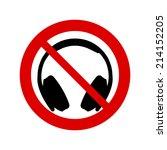 no headphones sign   Shutterstock .eps vector #214152205