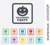 halloween pumpkin sign icon.... | Shutterstock .eps vector #214152529